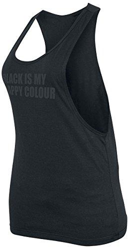 Black Is My Happy Colour Top donna nero M