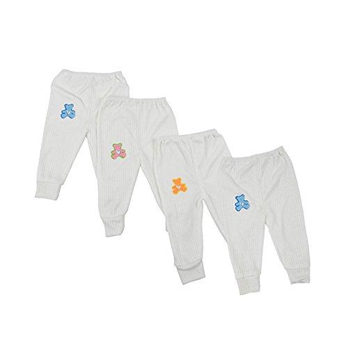 Kuchipoo 100% Hosiery Baby Thermal Warmer Pajamas for Winters Pack of 4
