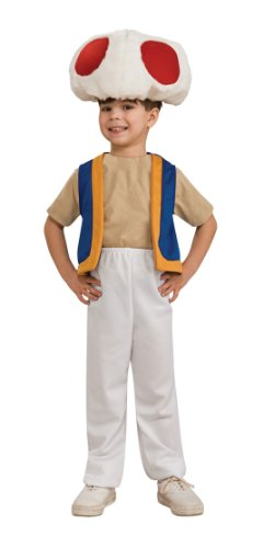 Super Mario Brothers Child's Costume, Toad Costume Small 4-6 fits ages 3 to 4 years