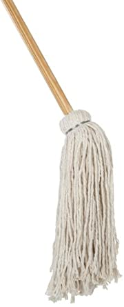 Boardwalk CD50032S #32 Cotton Deck Mop with Plastic-Coated Wood Handle (Case of 6)