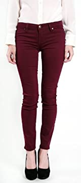 Plum skinny jean.