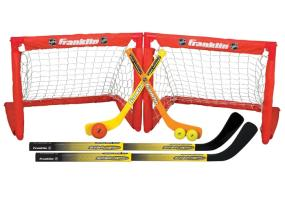 The Franklin Sports NHL Indoor Sport 2 In 1 Set includes everything you need for safe fun indoor hockey.
