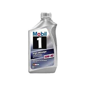 Mobil 1 103536 10w 40 high mileage motor oil 1 quart for Mobil motor oil rebate