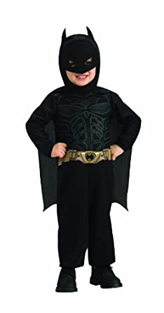 Batman The Dark Knight Rises Toddler Batman Costume,Black, 1-2 Years