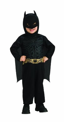 Batman The Dark Knight Rises Toddler Batman Costume,Black, 1-2 Years