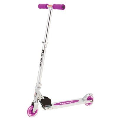 Razor A Lighted Wheel Kick Scooter - Neon Purple