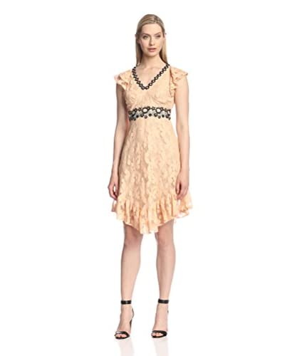 Anna Sui Women's Pansy Mesh Dress with Lace