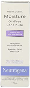 Neutrogena Moisture Oil-Free Facial Moisturizer for Sensitive Skin, 120ml