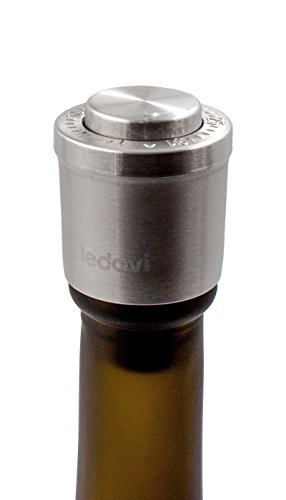 ledovi® Stainless Steel Vacuum Wine Stopper WT03 - Pump Inside - 1 Pack