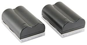 STK's Canon BP-511 Battery - TWO PACK 2200 mAh BP-511A BP511 BP511A Lithium Ion Battery Pack for Canon EOS 5D, 50D, 40D, 20D, 30D, 10D, Digital Rebel, 1D, D60, 300D, D30, Kiss, Powershot G5, Pro 1, G2, G3, G6, G1, Pro90 is, Optura 20, Xi, 10, PI, 200MC, 100MC