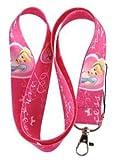 Cinderella Princess Pink Keychain Lanyard