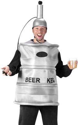 Fun World Mens Funny Human Beer Keg Outfit Halloween