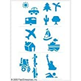 Kids Activity Project 8x10 Stencil 6-Pack: Vacation/Travel