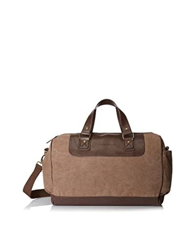 Tommy Bahama Men's Antigua Cove 19 Inch Duffle Bag, Taupe/Dark Brown