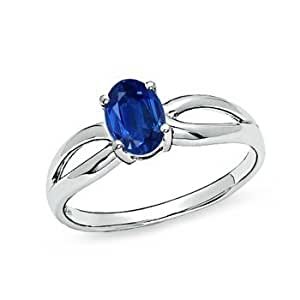 design your own 7x5mm oval blue sapphire