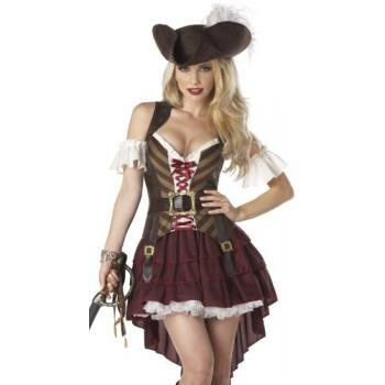 California Costumes Sexy Swashbuckler Set, Burgundy, Small