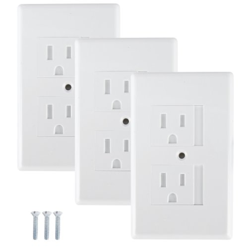 Mommy'S Helper Safe Plate Electrical Outlet Covers Standard, White - 3 Pack