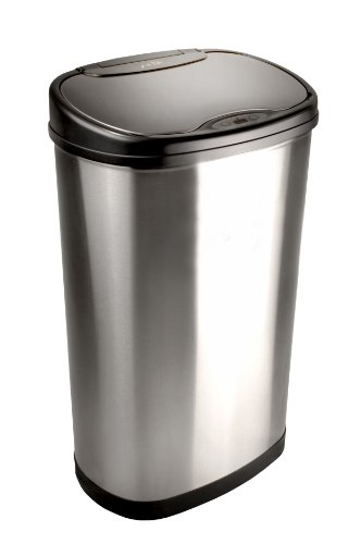 Nine Stars DZT-50-13 Infrared Touchless Stainless Steel Trash Can, 13.2-Gallon (Nine Stars Trash Can Lid compare prices)