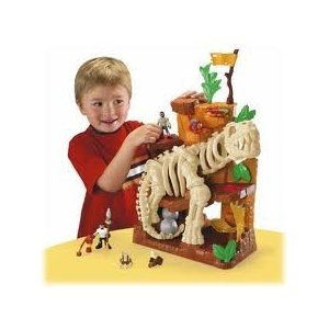 Imaginext Island of Lost Creatures Dinosaur Skeleton Playset