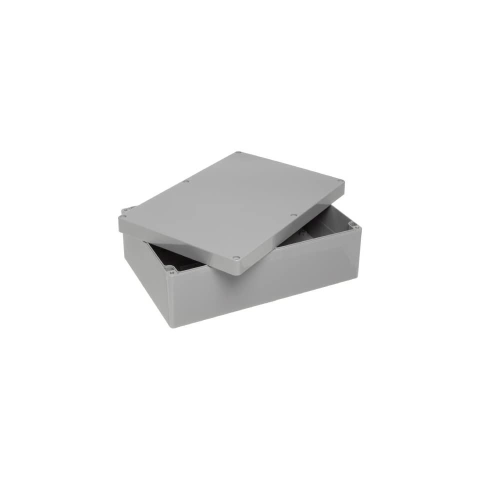 Dark Gray Finish 10-27//64 Length x 7-17//64 Width x 3-47//64 Height BUD Industries PN-1335-DG High-Impact ABS NEMA 4x Indoor Box 10-27//64 Length x 7-17//64 Width x 3-47//64 Height