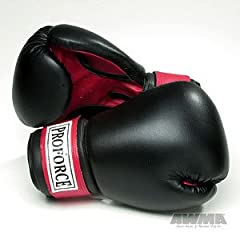 Buy ProForce Leatherette Boxing Gloves w Red Palm by AWMA