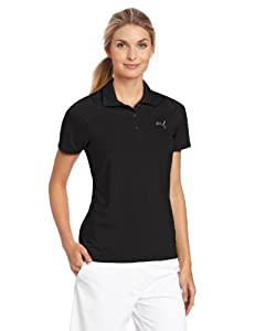 Puma Golf NA Women's Duo-Swing Polo Tee, Black, Large