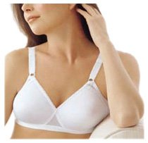 Playtex Cross Your Heart Lightly Lined Wirefree Bra 0655, 32B, White