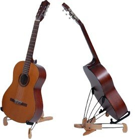 meisel gsa wood acoustic classical guitar stand musical instruments. Black Bedroom Furniture Sets. Home Design Ideas