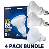 Cree 9.5-Watt (65W) Soft White (2700K) BR30 Dimmable LED Flood Light Bulb (4-Pack)