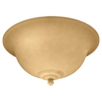 Three Light Ceiling Fan Light Kit or Semi Flush Mount Finish: Champagne Scavo