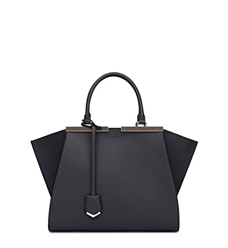 Fendi Petit 3Jours Tote Bag In Black Nappa Leather 8Bh279 F0Cqk W14
