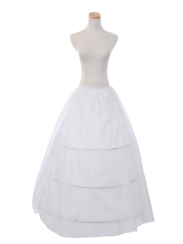 Topwedding White 2 Layers Nylon Bridal Petticoat/Crinoline Half Slip