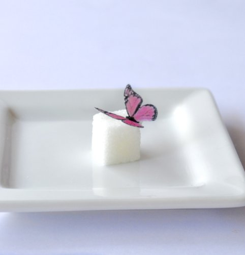 Edible Butterflies © - Mini Assorted Pink Set Of 48 - Cake And Cupcake Toppers, Decoration front-6769