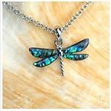 Jewellery Creations - Paua Shell Necklace - Dragonfly WRJ14514