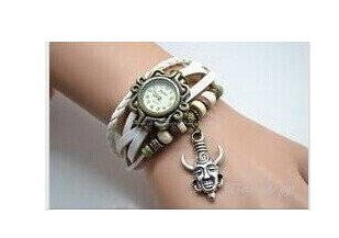 Dean Winchester's Amulet Wrist Watch,supernatural Hyperphysical Inspired Protection Charms Bracelet Watchleather Bracelet Watch (Supernatural Protection Amulet compare prices)