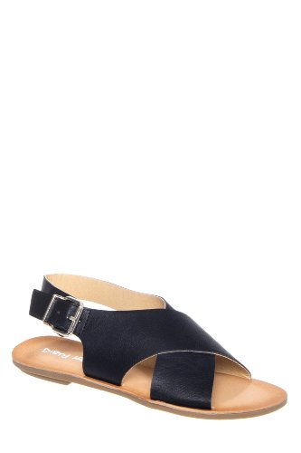 Dirty Laundry Beatbox Cross Strap Slingback Flat Sandal