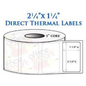 Amazon.com : 2.25x1.25 Direct Thermal Barcode Labels for ...