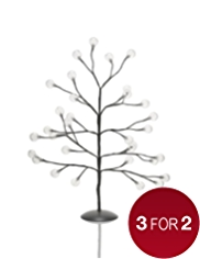 2ft White Light-Up Bauble Tree