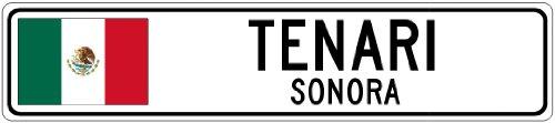 tenari-sonora-mexico-flag-city-sign-4x18-quality-aluminum-sign