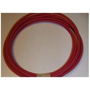 18 Ga Cotton Braided Wire, 10 Foot Section. Color: Red