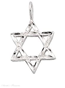 Sterling Silver Small Star Of David Pendant