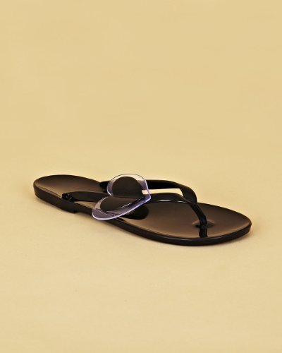 Flipflop Sandal Embellished with Asymmetric 2-Piece Heart