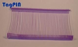 Kunststofffäden standard tagPin 65 mm (10000 fins) mauve