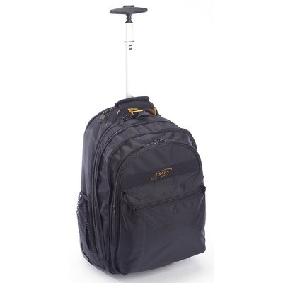 A. Saks EXPANDABLE Trolley Laptop Backpack – Black