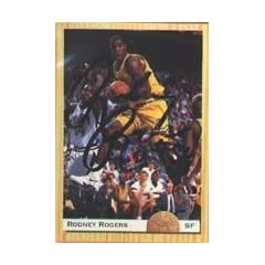 Rodney Rogers Denver Nuggets 1993 Classic Draft Pick Autographed Hand Signed Trading...