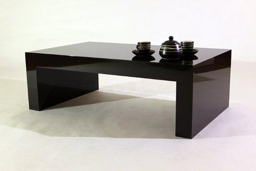 Tisch-Couchtisch-Beistelltisch-Kaffeetisch-Wohnzimmertisch-Braun-Hochglanz-mod-FIRST-H30