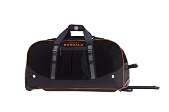 Athalon Cincinnati Bengals 24 Inch Duffle Bag with Wheels by ATHALON