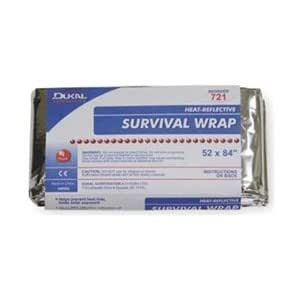 Survival Wrap, Metalic Blanket, Compact