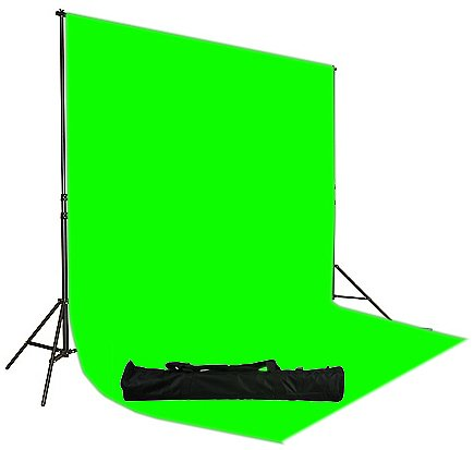 Chromakey Green Screen Muslin Backdrop Support System Kit, 10&#215;12 Ft Chromakey Green Muslin Backdrop Background Stand Kit, carrying case included for backdrop support stand by Fancier UL30 10&#215;12 Green