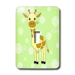 Janna Salak Designs Jungle Animals - Green Baby Giraffe - Light Switch Covers - single toggle switch